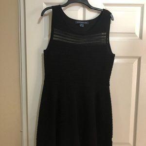 Black flary dress